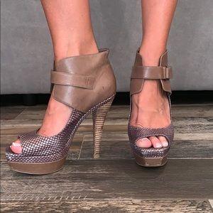 BCBG Olive and Tan cuff 5'' heel